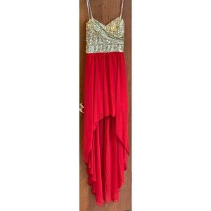 B Darlin Strapless High Low Dress